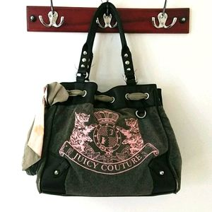Juicy Couture Large Velour Handbag